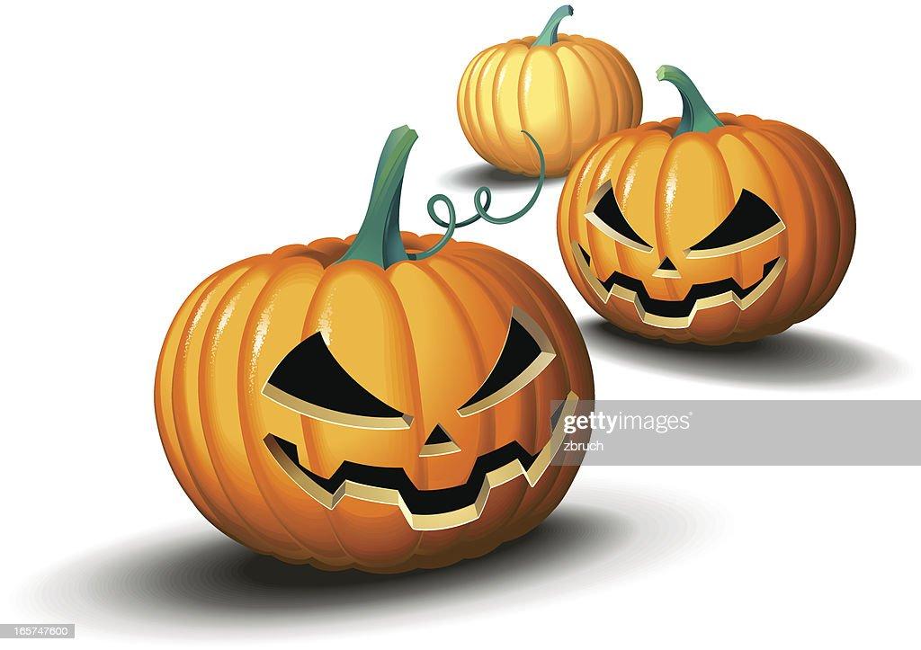 Halloween pumpkins : stock illustration