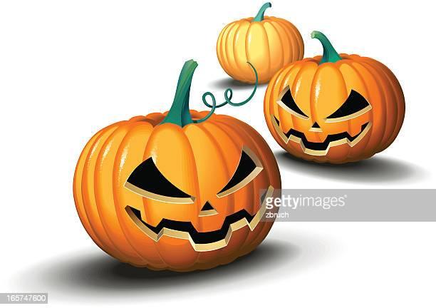 halloween pumpkins - sneering stock illustrations, clip art, cartoons, & icons