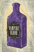 Hallowe'en purple bottle with Vampire blood labels