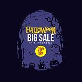 Halloween Sale Background template