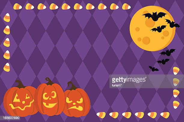 Halloween Scene with Copy Space