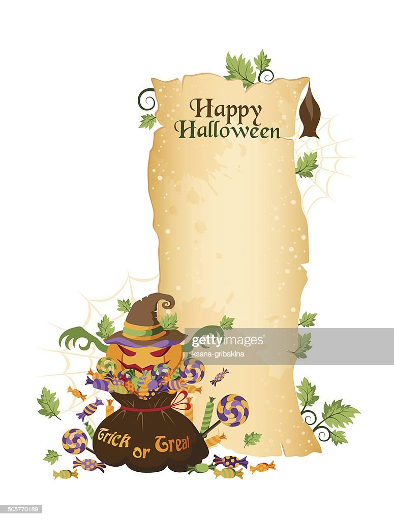 halloween scroll banner vector art getty images