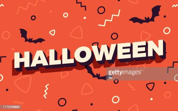 halloween nahtlose feier party hintergrund - halloween stock-grafiken, -clipart, -cartoons und -symbole