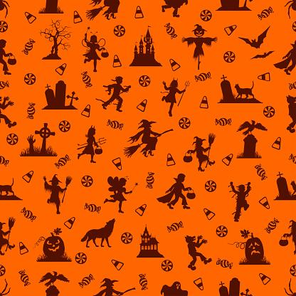 Halloween Seamless Pattern - gettyimageskorea