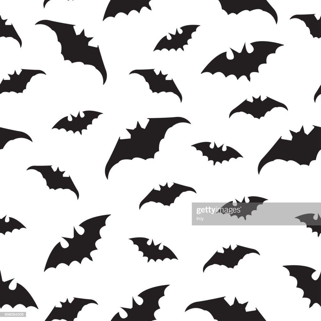 Halloween Seamless pattern with bats.