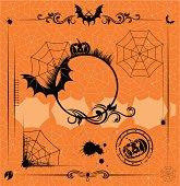 halloween set of design elements
