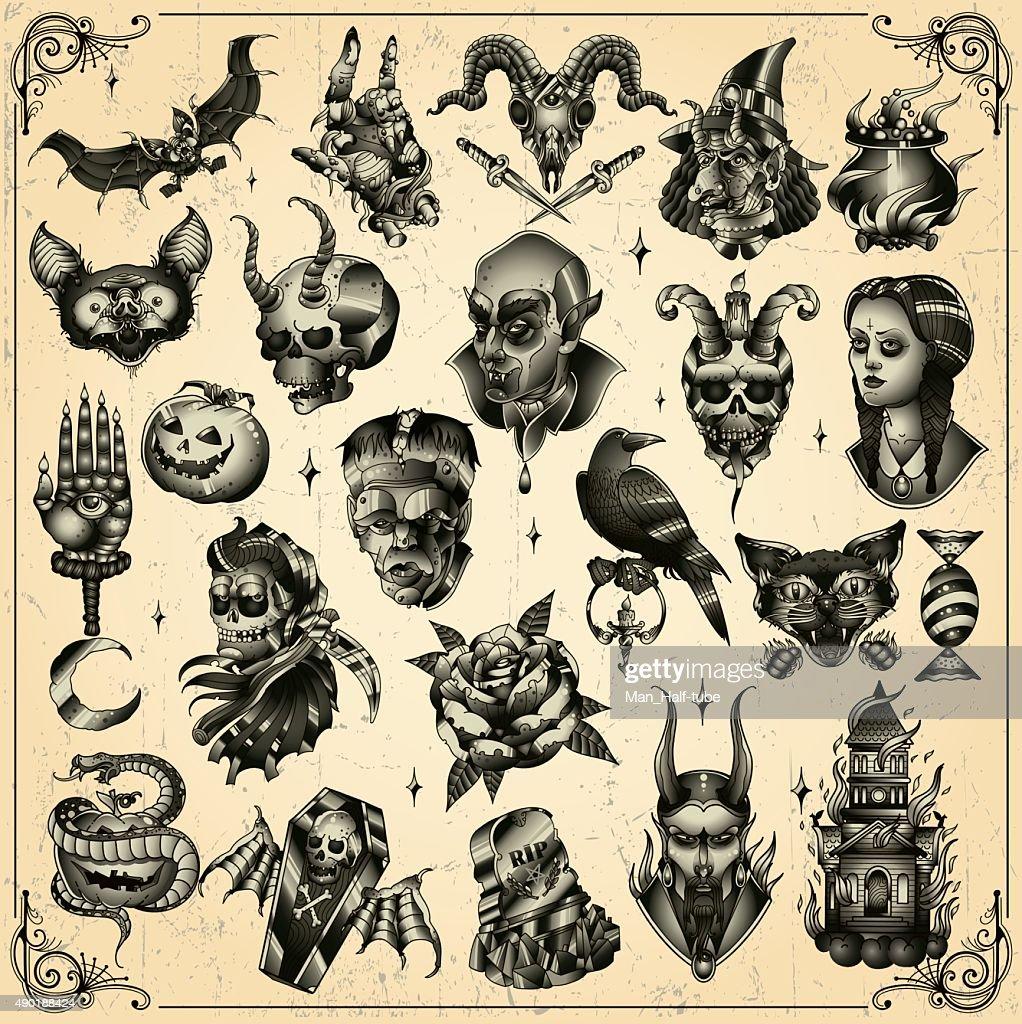 Halloween set : Stock Illustration