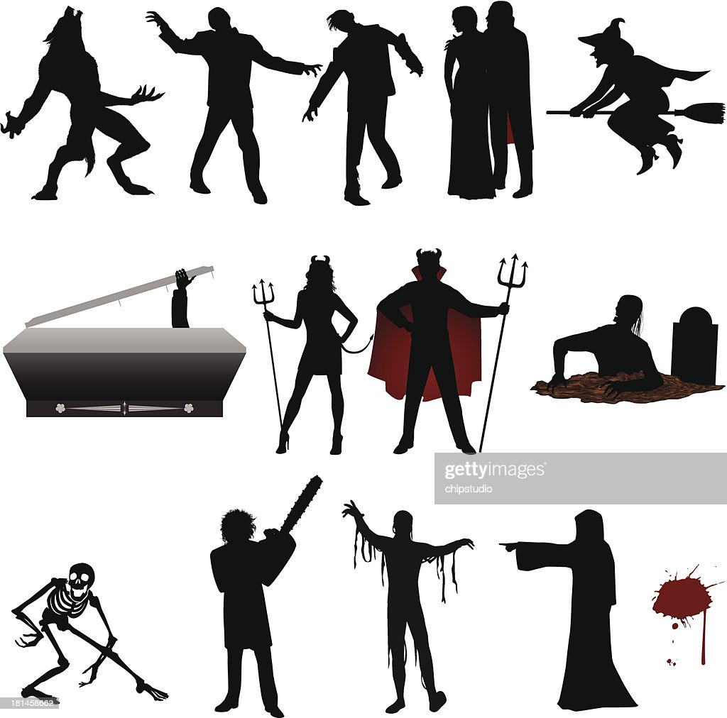 Halloween Silhouette Vector Art | Getty Images