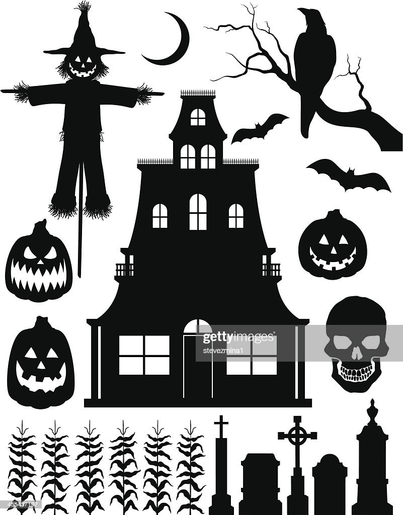 Halloween Silhouettes Vector Art | Getty Images