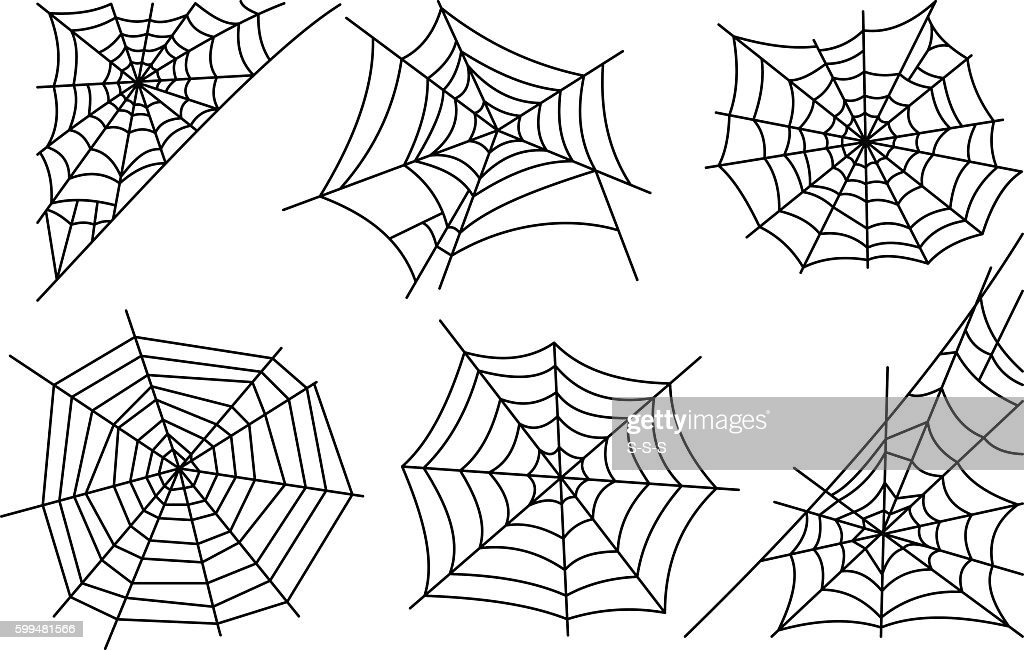 Halloween spider web icons