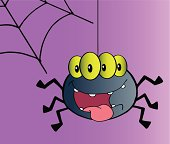 Halloween Spider With Background