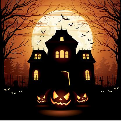 Halloween Spooky House - gettyimageskorea