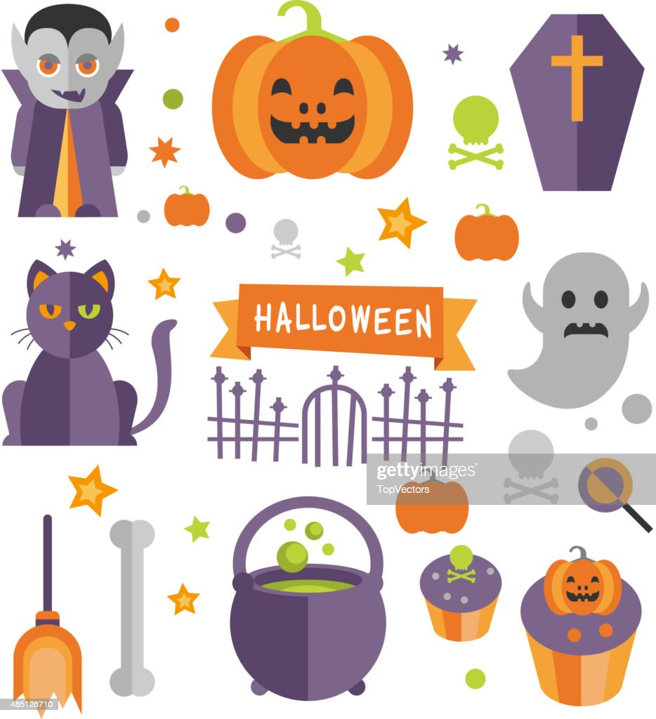 Halloween Symbols Collection Vector Art Getty Images