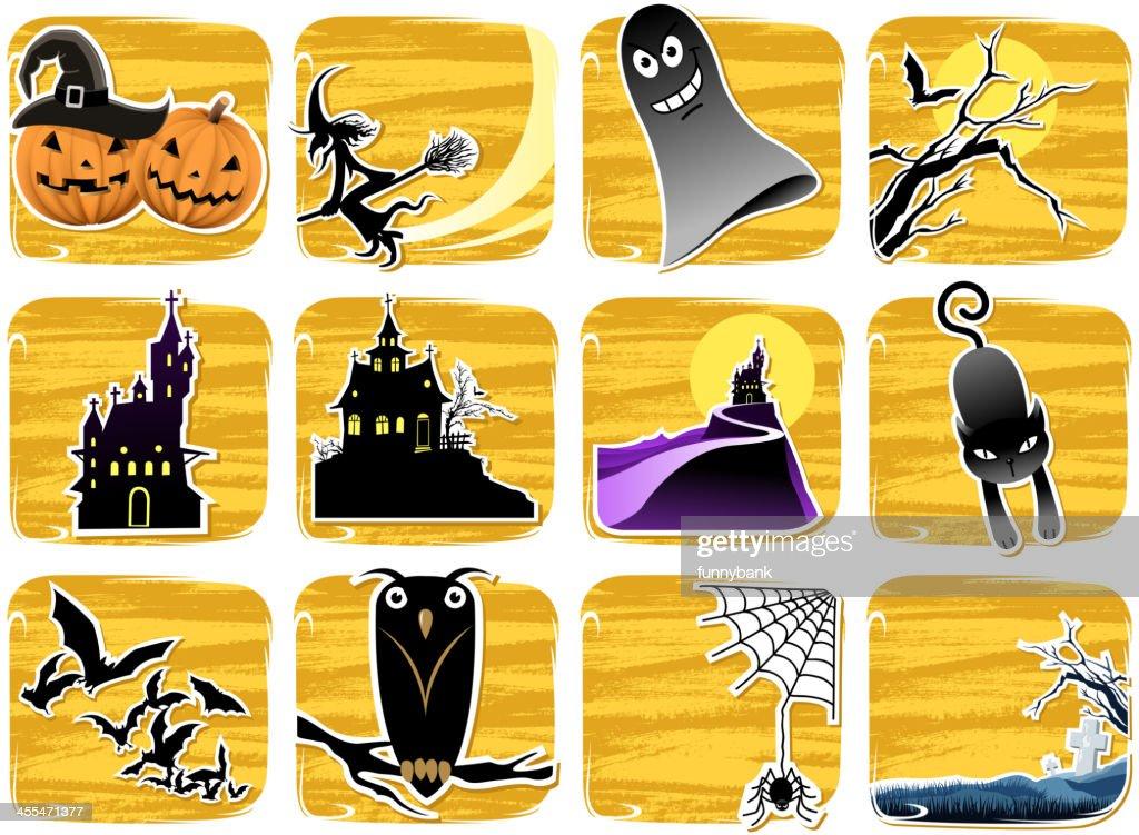 Halloween Symbols Vector Art | Getty Images