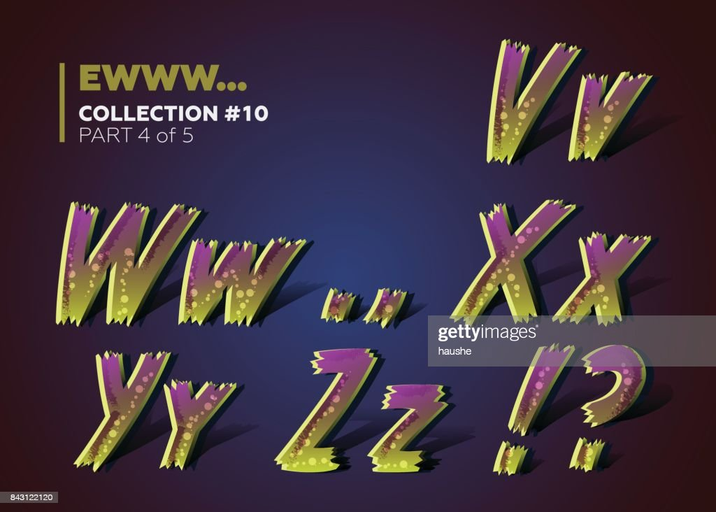 Halloween Theme. 3D Colorful Typeset for Zombie Apocalypse or End of the World Party Decoration.