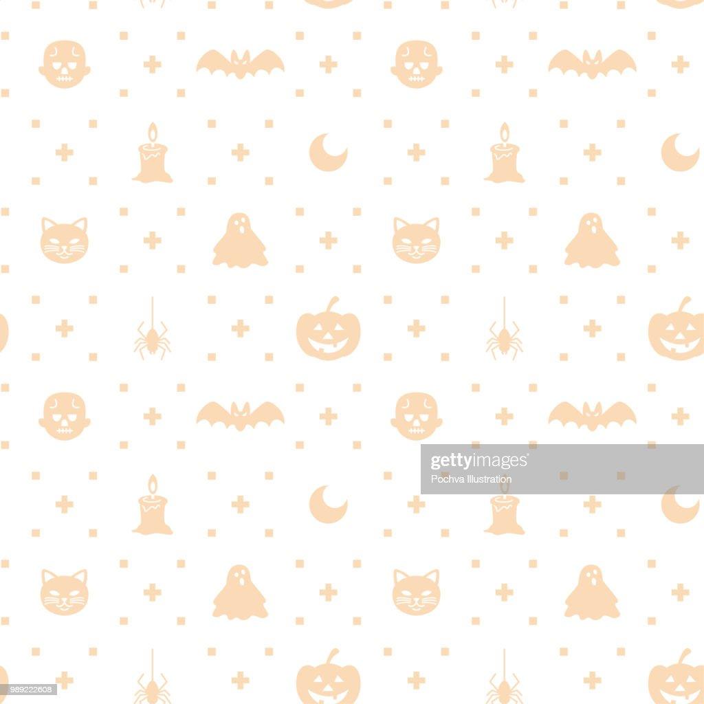 Halloween Thema.Halloween Thema Silhouet Pictogram Naadloze Patroon