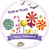 Halloween trick or treat vector background