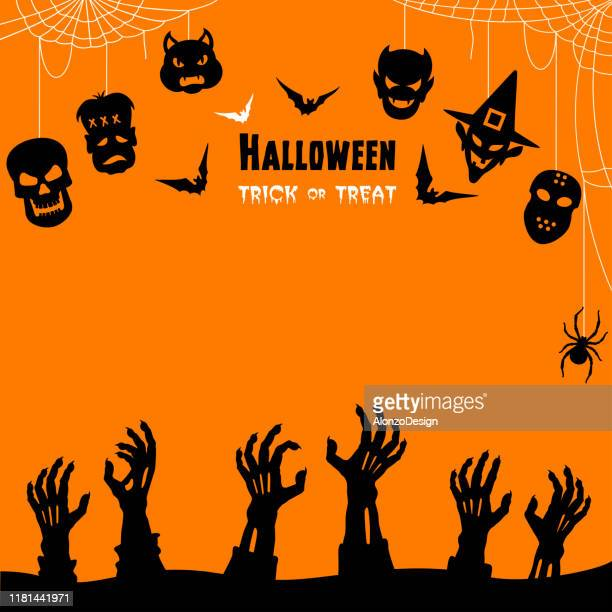 halloween trick or treaters - halloween stock illustrations