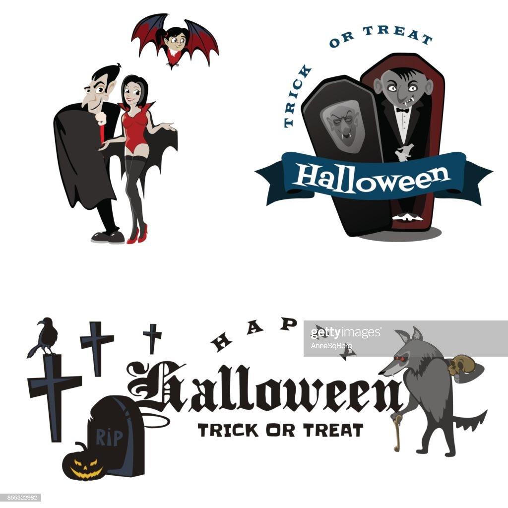 Halloween Vampire In Coffin Draculas Monster In Cloak Flat Vector