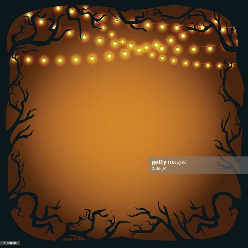 Halloween vector background with copy space.