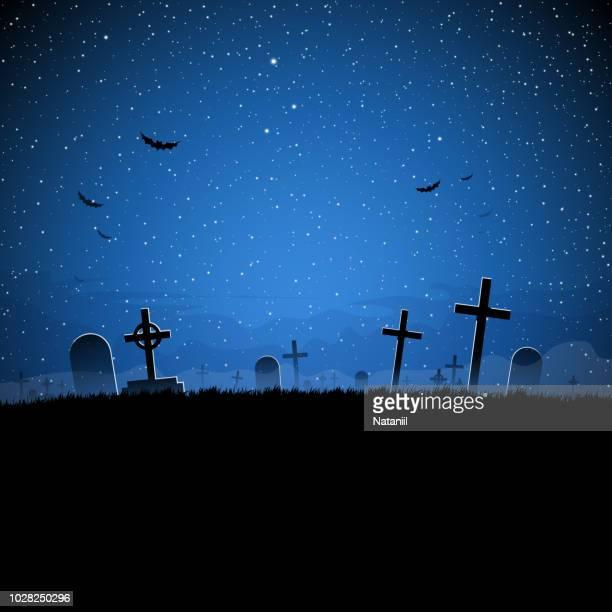 halloween - cemetery stock illustrations
