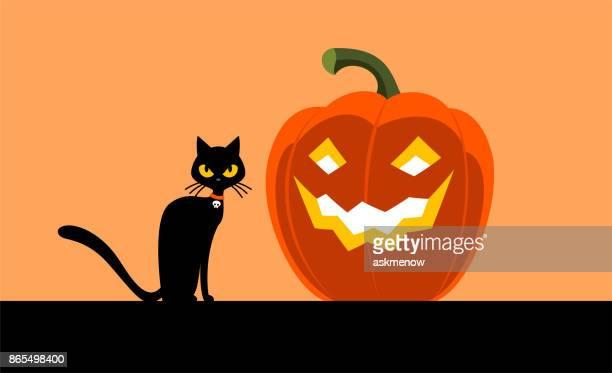 halloween - halloween cats stock illustrations