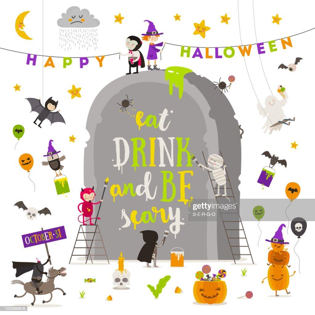 Halloween vector illustration.