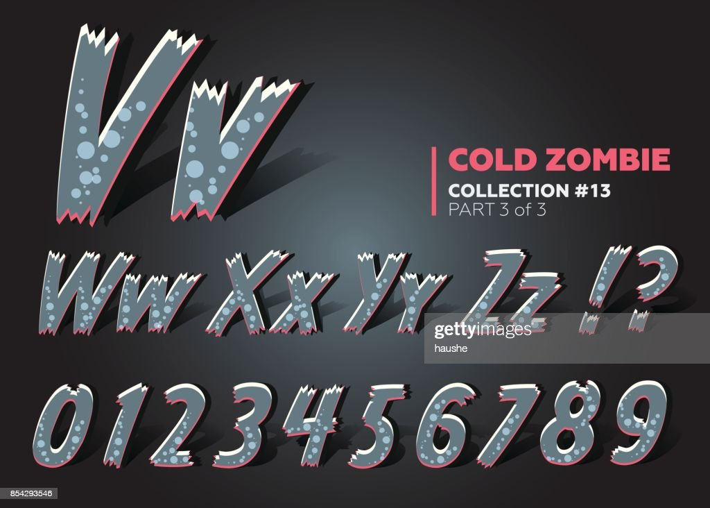 3D Halloween Vector Monster Font. Spooky Cartoon Letters. Funny ABC in Horror Style.