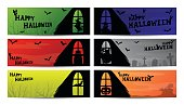 halloween window silhouette banner