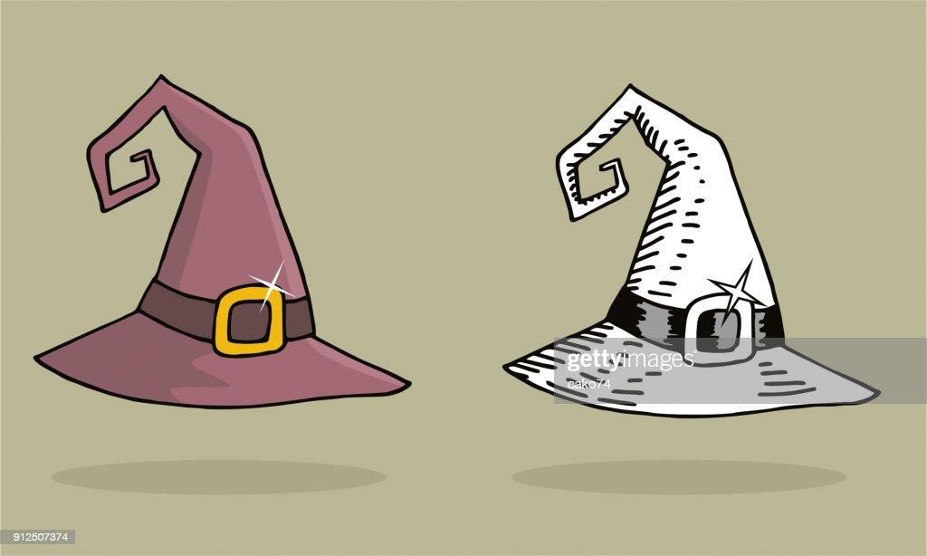 Halloween witch hat illustrations : stock illustration