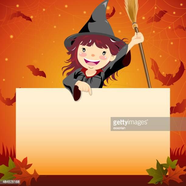 Halloween witch notice
