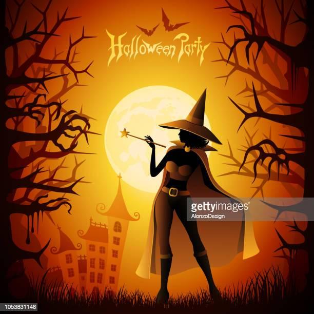 ハロウィーンの魔女 - 暦月点のイラスト素材/クリップアート素材/マンガ素材/アイコン素材