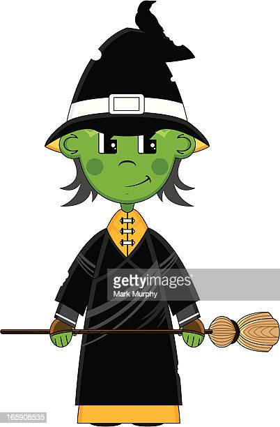 Halloween Witch with Broomstick