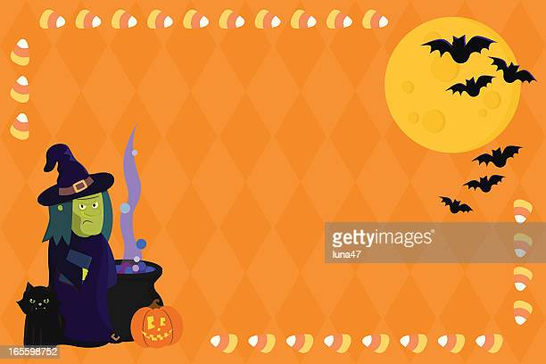 Halloween Witch with Copy Space