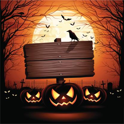Halloween Wooden Sign - gettyimageskorea