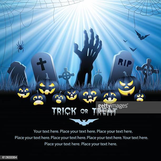 halloween zombie's hand - grave stock illustrations, clip art, cartoons, & icons