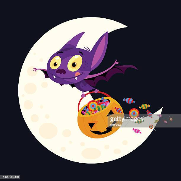 halloween-bat - love bite stock illustrations