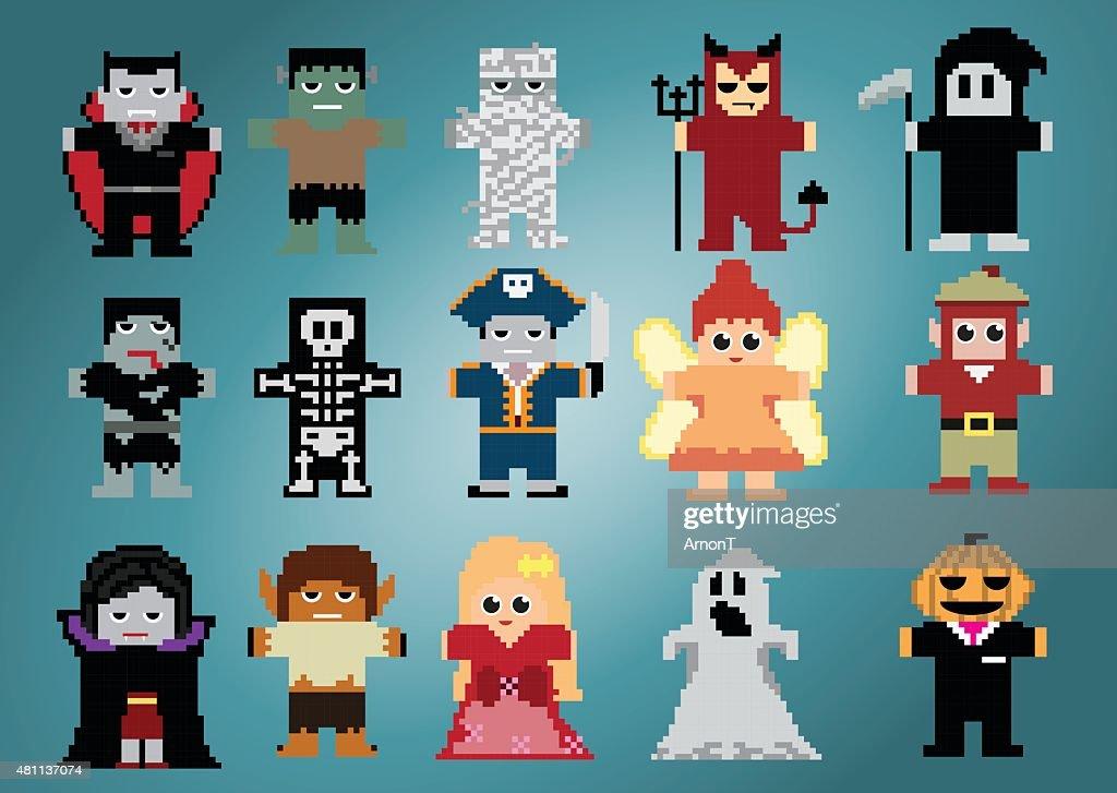 Halloween-Pixel-Characters