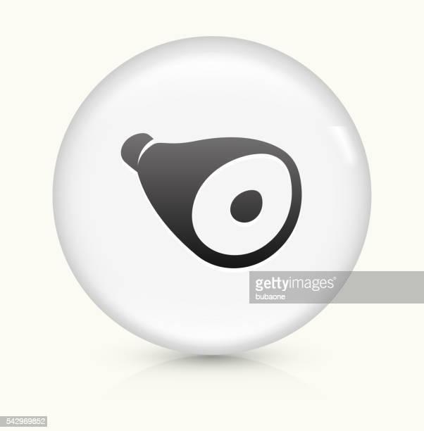 Ham icon on white round vector button