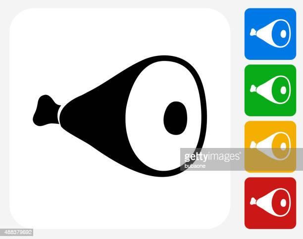 ハム脚グラフィックデザインアイコンフラット - ローストビーフ点のイラスト素材/クリップアート素材/マンガ素材/アイコン素材
