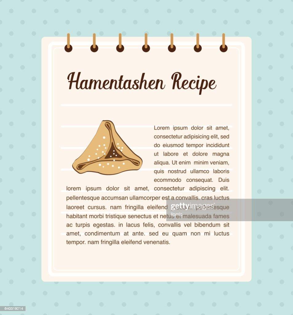 Hamantaschen recipe. traitional food for Jewish holiday Purim
