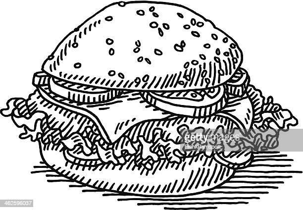 Hamburger Fast Food Drawing