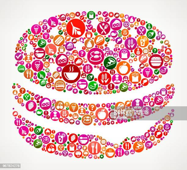 Hamburger  Food and Diet Vector Icon Background