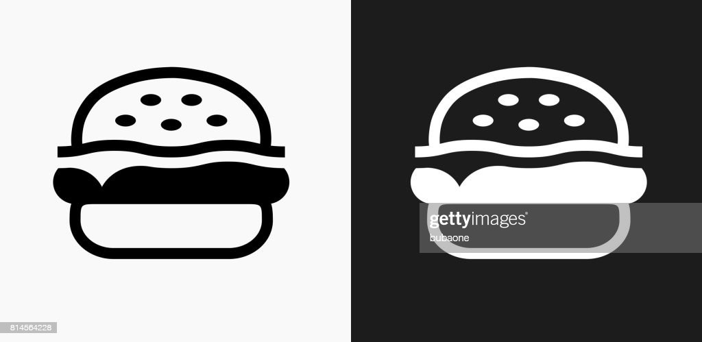 Hamburger Icon on Black and White Vector Backgrounds : stock illustration