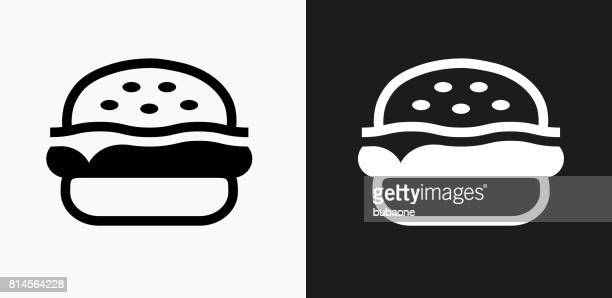 Hamburger Icon on Black and White Vector Backgrounds