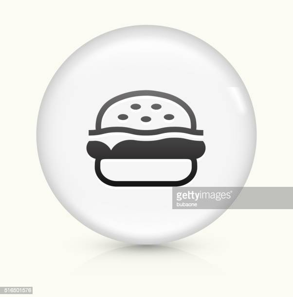 hamburger icon on white round vector button - sweet bun stock illustrations, clip art, cartoons, & icons