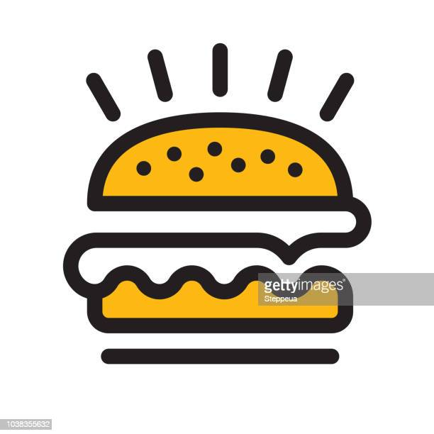 hamburger icon - unhealthy eating stock illustrations