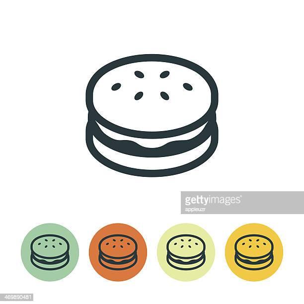 ilustrações, clipart, desenhos animados e ícones de ícone de hambúrguer - hamburger