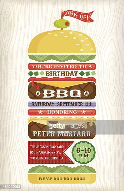 BBQ Hamburger Invitation