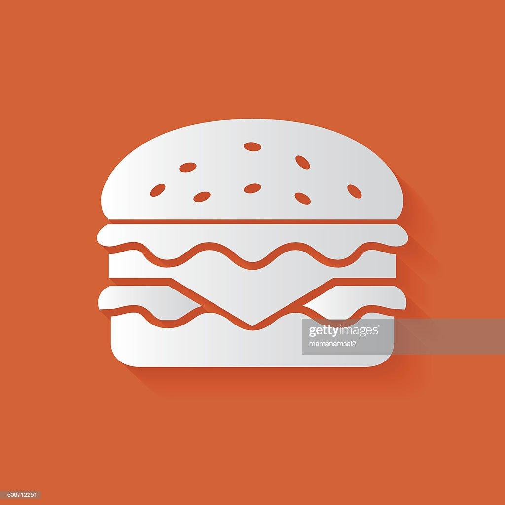 Hamburger symbol,clean vector